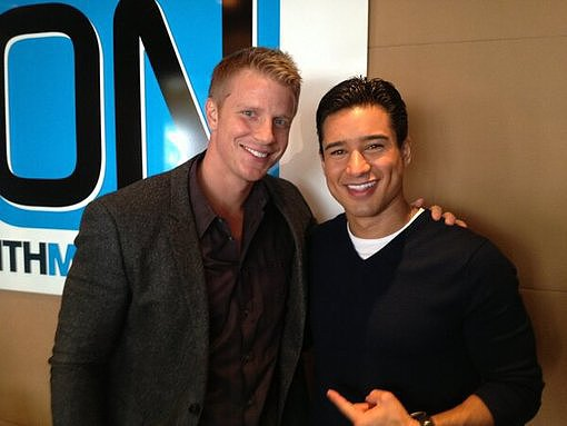 Mario Lopez posed with The Bachelor star Sean Lowe. Source: Twitter user MarioLopezExtra