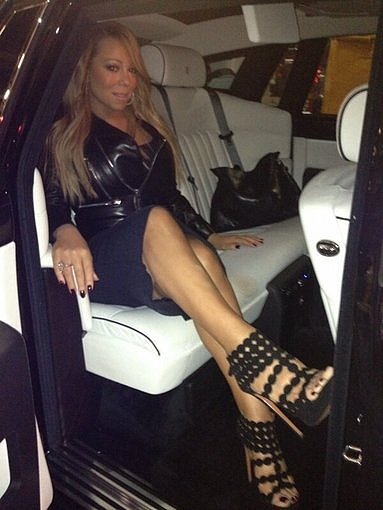 Mariah Carey showed off a fierce pair of heels. Source: Twitter user MariahCarey