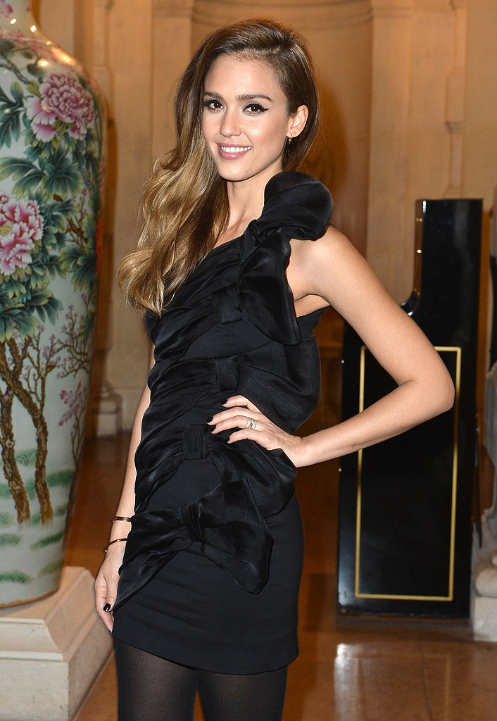 Jessica Alba looked flawless at the CR Fashion Book launch party on Tuesday night in Paris.