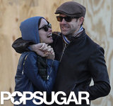 Olivia Wilde and Jason Sudeikis shared a laugh.