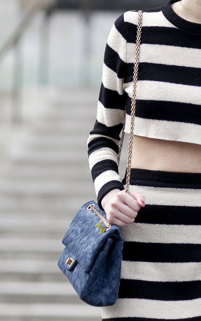The perfect pairing = Chanel + stripes.