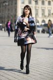 Miroslava Duma layered up in high-wattage abstract prints. Source: Le 21ème | Adam Katz Sinding