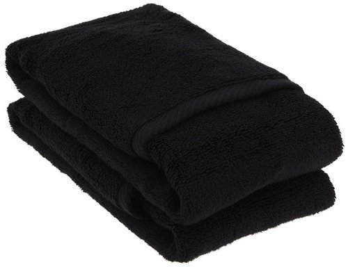 Home Source International - MicroCotton Luxury Set Of 2 Hand Towels (Black) - Home