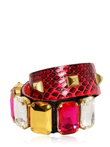 Gedebe - Crystal &amp; Studs Snake Bracelet