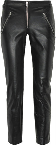 Alexander McQueen Leather motocross pants