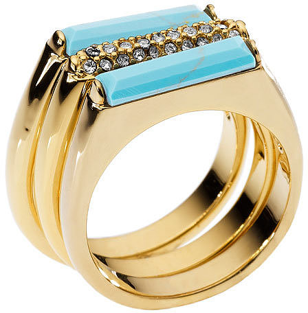 Michael Kors 'Sleek Exotics' Pavé Bar Stack Rings (Set of 3)