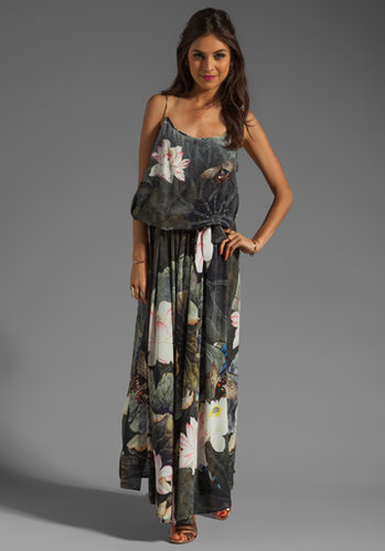 Camilla Bat Shoestring Strap Maxi Dress in Craving A Patch of Green from REVOLVEclothing.com