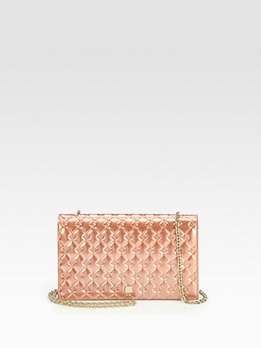 Fendi Fendilicious Metallic Patent Leather Clutch