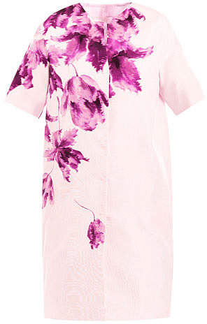 Giambattista Valli Orchid-print silk coat