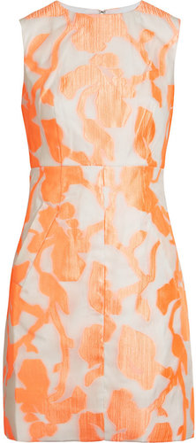 Diane von Furstenberg Carpreena Mini Rose jacquard dress
