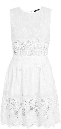Suno Lace embroidered mini-dress
