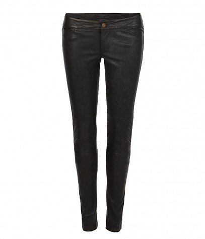 Elben Cropped Leather Trouser