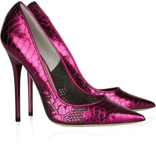Jimmy Choo Tippi snake-effect leather pumps