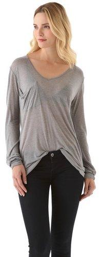 Kain label V Neck Pocket Shirt with Long Sleeves