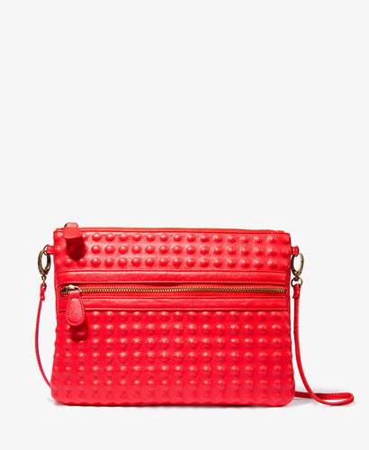 FOREVER 21 Textured Dot Crossbody