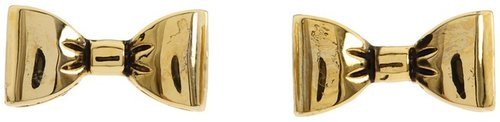 Betsey Johnson - Gold Bow Stud Earrings (Gold) - Jewelry