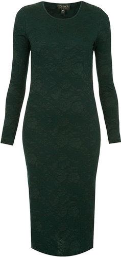Jacquard Midi Bodycon Dress