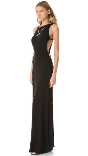ISSA Cutout Sleeveless Gown | SHOPBOP