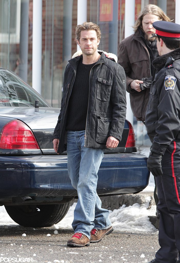 Scott Speedman shot a scene for Queen of the Night in Toronto on Monday.