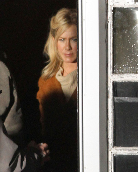 Jennifer Aniston was hard at work filming an untitled project in Stamford, CT, on Monday.