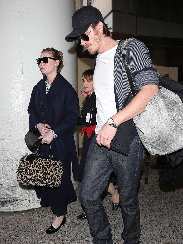 Kirsten Dunst and Garrett Hedlund landed in LAX on Wednesday.