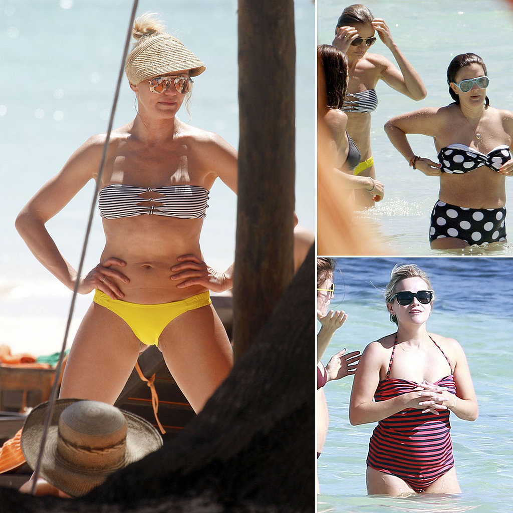 Reese, Cameron, and Drew Hit the Beach in Bikinis!