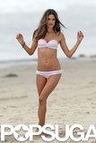 Alessandra Ambrosio Braves the Cold in a Bikini For Victoria's Secret