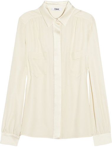 Chlo Silk-crepe blouse