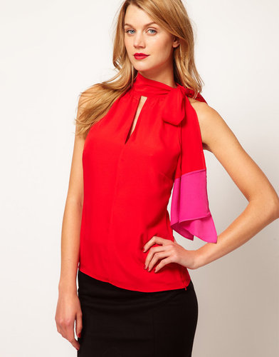 Coast Halter Top With Colour Block Detail