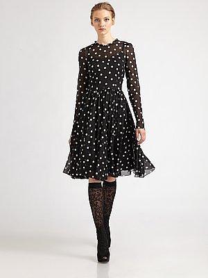 Dolce & Gabbana Silk Polka Dot Dress