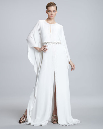 Naeem Khan Embroidered-Waist Caftan