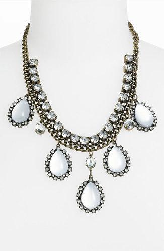 Panacea Antique Gold & Crystal Necklace