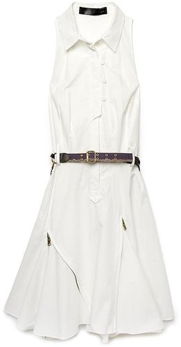 Proenza Schouler Sleeveless Belted Shirt Dress