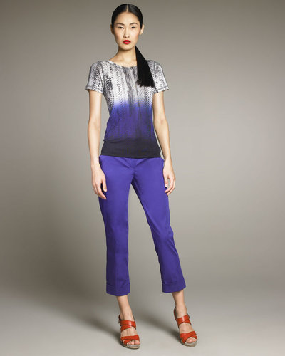 Reed Krakoff Shrunken Snake-Print Tee