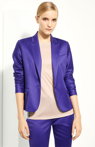 Reed Krakoff Wool Blend Sateen Jacket