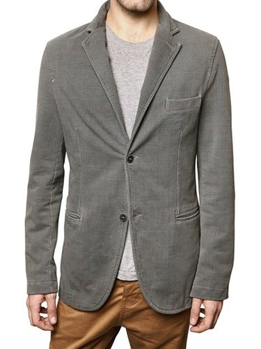 Be For Milano - Checked Print Stretch Fleece Jacket