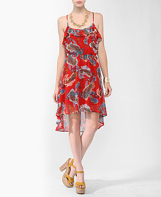 Forever 21 High-Low Paisley Print Dress