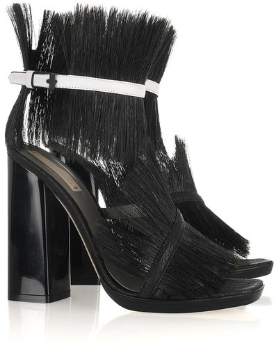 Reed Krakoff Bridle-cuffed shark leather sandals
