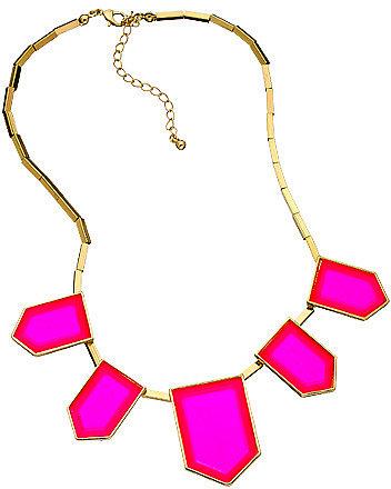 Blu Bijoux Square Tube Link Neon Bib Necklace