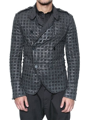 Dolce & Gabbana - Net Nappa Leather Jacket