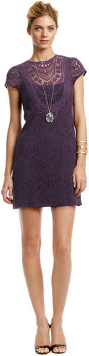 Nanette Lepore Rustic Plum Lace Dress