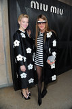 Léa Seydoux and Anna Dello Russo wore matching coats at the Miu Miu show.