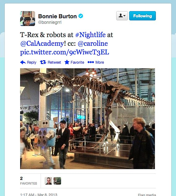Behold, bones! Star Wars web show host Bonnie Burton spent a night at the California Academy of Sciences.