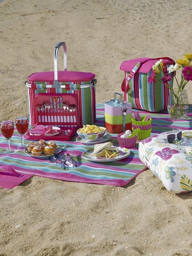 Epicurean Disco Stripe Picnic Blanket