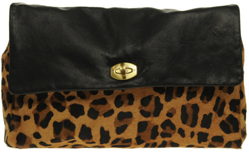 ASOS Leather And Leopard Print Clutch