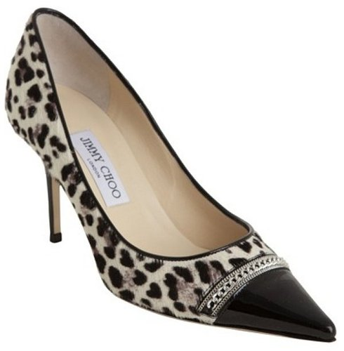 Jimmy Choo black and white leopard calf hair  'Blend' pumps