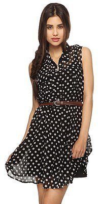 Forever 21 Belted Polka Dot Shirtdress