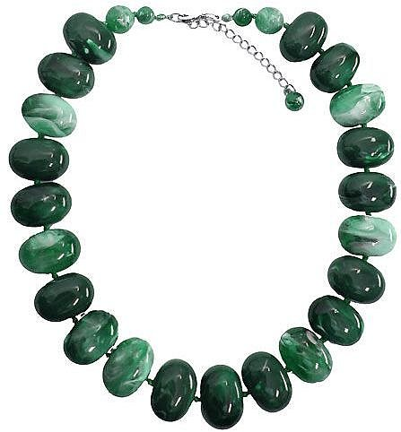 Minuet Petite Green marble texture necklace