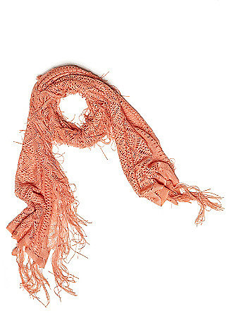 Scallop Lace Fringed Scarf