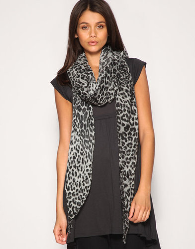 Warehouse Leopard Print Scarf